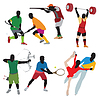 Vector clipart: Silhouettes athlete
