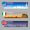 Vector clipart: Travel banners