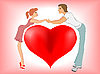 Vector clipart: falling in love