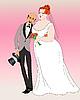 Жених и невеста | Векторный клипарт