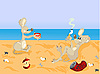 Vector clipart: mice beach party
