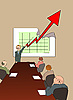 Vector clipart: chart of company growth