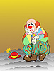 Vector clipart: sad clown