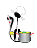 Vector clipart: cat cook