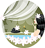 Vector clipart: woman with white flowers