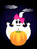 Vector clipart: ghost and pumpkin