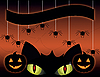 Black cat on Halloween | Stock Vector Graphics