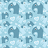 Vector clipart: seamless pattern with elephants