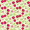 Vector clipart: Seamless cherry background