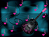 Vector clipart: background with black guitar