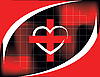 Vector clipart: medical red cross and heart