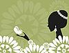 Векторный клипарт: Девушка с бабочкой