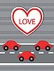 Векторный клипарт: сердце с машинами