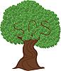 Векторный клипарт: Зеленый дерево