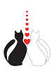 Векторный клипарт: In Love кошек