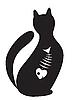 Векторный клипарт: Силуэт кошки