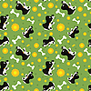 seamless pattern of playing dogs