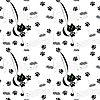 Vector clipart: seamless pattern with cats and mice