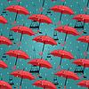Векторный клипарт: бесшовный фон из зонтиков