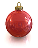 Red christmas shiny ball isolated | Stock Illustration