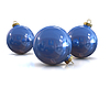 Blue christmas glossy and shiny balls | Stock Illustration