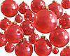 Red christmas shiny balls isolated | Stock Illustration