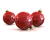 Red christmas glossy and shiny balls | Stock Illustration