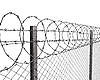 Fence of barbed wire | Stock Illustration