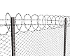 Chainlink fence with barbed wire | Stock Illustration