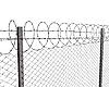 철 와이어 체인 링크 울타리 | Stock Illustration