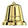 Shiny golden bell | Stock Illustration