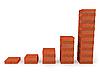 Фото 300 DPI: График роста из красных кирпичей