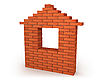 Photo 300 DPI: house made from red bricks