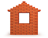 Photo 300 DPI: house made of red bricks