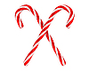 Two crossed christmas candy canes | Stock Illustration