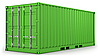 Photo 300 DPI: Green freight container isolated