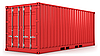Red freight container isolated | Stock Illustration