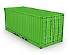 绿色集装箱孤立   光栅插图