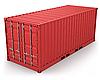 红色集装箱孤立   光栅插图