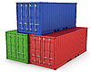 Photo 300 DPI: Three freight containers