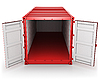 Opened red freight container | Stock Illustration