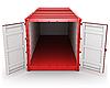 Otwarty czerwony kontener | Stock Illustration