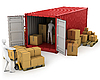 ID 3048015   Two workers unload container   High resolution stock illustration   CLIPARTO