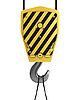 Yellow crane hook | Stock Illustration
