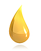 Shiny gold drop of honey | Stock Illustration