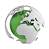 Abstract green globe with Europe | Stock Illustration