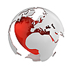 Globe with heart, Europe part  | Stock Illustration