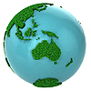 Photo 300 DPI: Globe of grass with Australia part