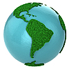 Globe of grass with South America part | Stock Illustration