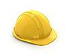 Yellow plastic helmet or hard hat | Stock Illustration